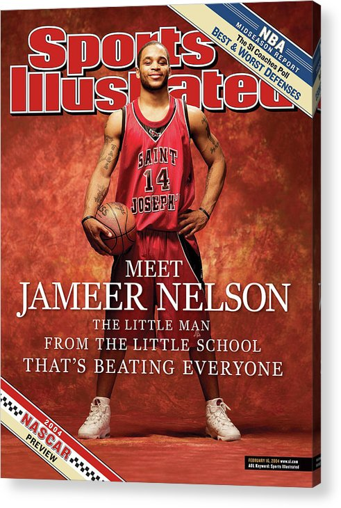 Point Guard Acrylic Print featuring the photograph Meet Jameer Nelson The Little Man From The Little School Sports Illustrated Cover by Sports Illustrated