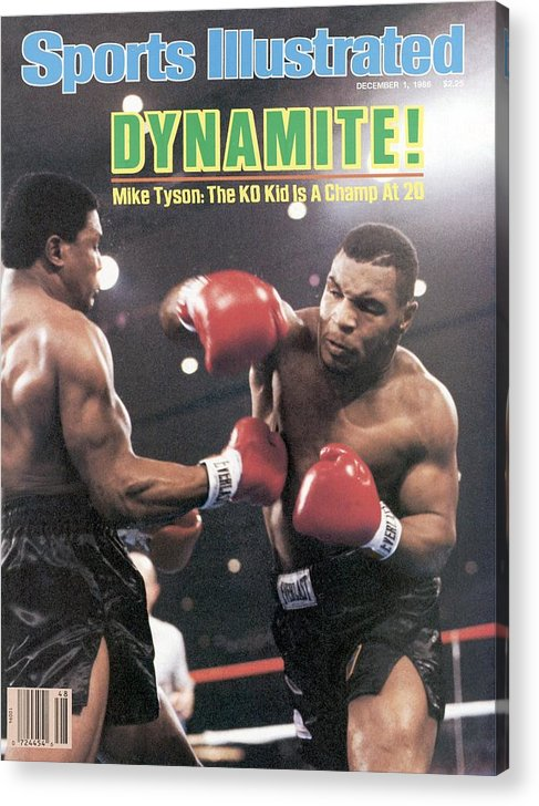 1980-1989 Acrylic Print featuring the photograph Mike Tyson, 1986 Wbc Heavyweight Title Sports Illustrated Cover by Sports Illustrated