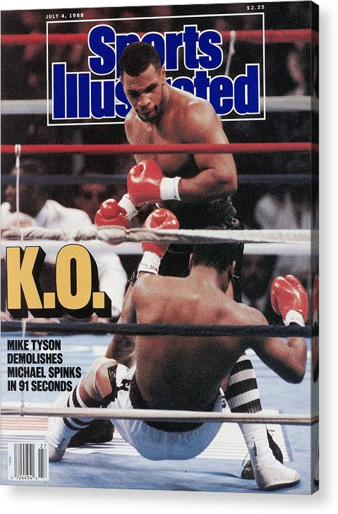 Magazine Cover Acrylic Print featuring the photograph Mike Tyson, 1988 Wbcwbaibf Heavyweight Title Sports Illustrated Cover by Sports Illustrated