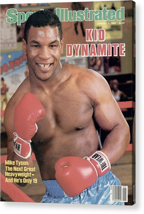 1980-1989 Acrylic Print featuring the photograph Mike Tyson, Heavyweight Boxing Sports Illustrated Cover by Sports Illustrated