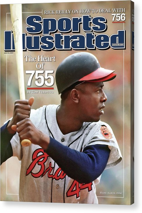 Magazine Cover Acrylic Print featuring the photograph Milwaukee Braves Hank Aaron Sports Illustrated Cover by Sports Illustrated