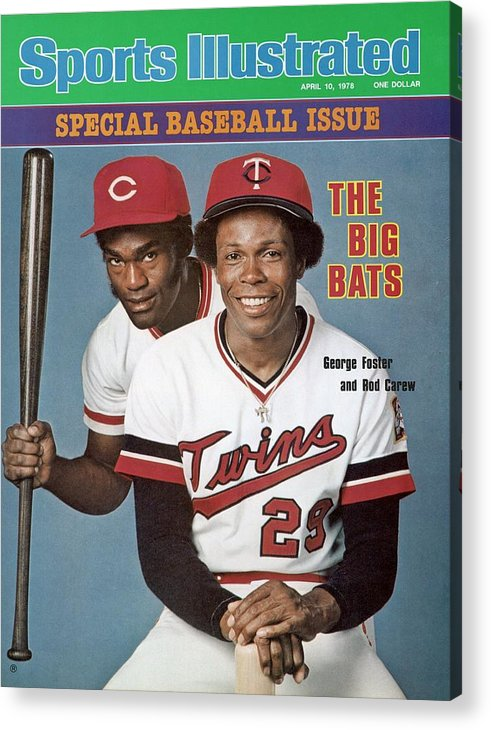 Magazine Cover Acrylic Print featuring the photograph Minnesota Twins Rod Carew And Cincinnati Reds George Sports Illustrated Cover by Sports Illustrated