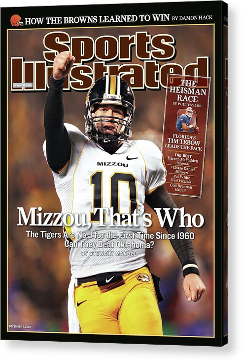 Magazine Cover Acrylic Print featuring the photograph Missouri University Qb Chase Daniel by Sports Illustrated Cover