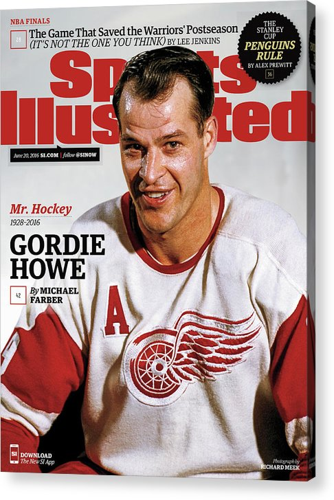 Magazine Cover Acrylic Print featuring the photograph Mr. Hockey Gordie Howe, 1928 - 2016 Sports Illustrated Cover by Sports Illustrated