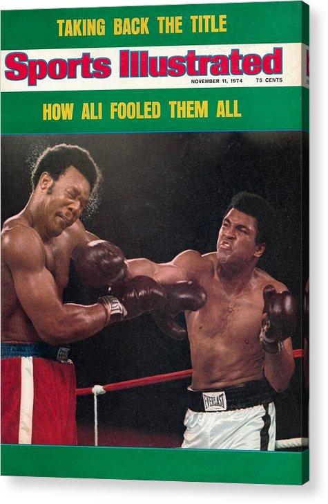 Magazine Cover Acrylic Print featuring the photograph Muhammad Ali, 1974 Wbawbc Heavyweight Title Sports Illustrated Cover by Sports Illustrated