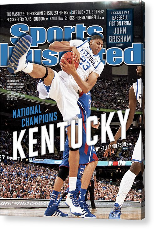 Magazine Cover Acrylic Print featuring the photograph Ncaa Basketball Tournament - Final Four - Championship Sports Illustrated Cover by Sports Illustrated