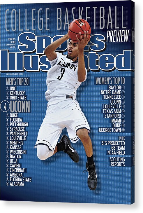 Magazine Cover Acrylic Print featuring the photograph Ncaa Basketball Tournament - Final Four - Semifinals Sports Illustrated Cover by Sports Illustrated