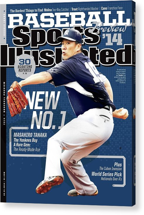 Magazine Cover Acrylic Print featuring the photograph New No. 1 2014 Mlb Baseball Preview Issue Sports Illustrated Cover by Sports Illustrated