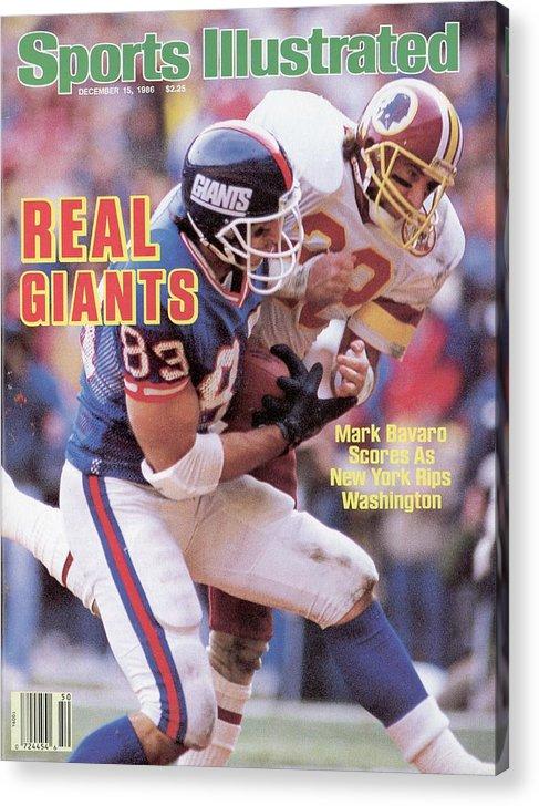 Magazine Cover Acrylic Print featuring the photograph New York Giants Mark Bavaro... Sports Illustrated Cover by Sports Illustrated