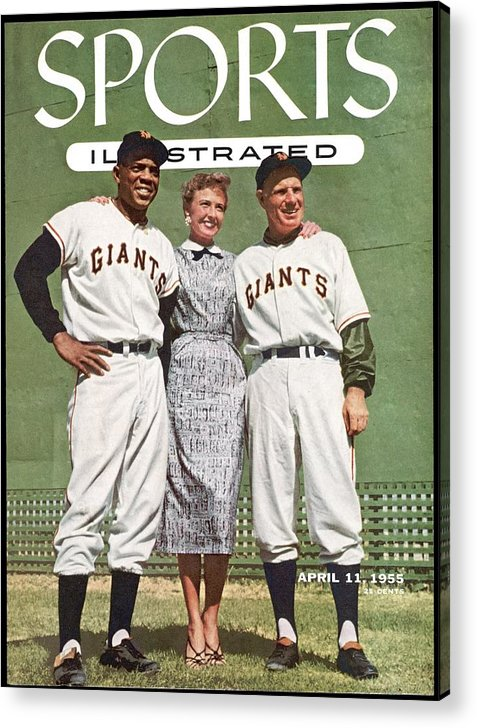 Magazine Cover Acrylic Print featuring the photograph New York Giants Willie Mays, Loraine Day Durocher And Sports Illustrated Cover by Sports Illustrated