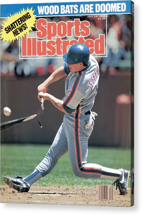 Candlestick Park Acrylic Print featuring the photograph New York Mets Gregg Jeffries... Sports Illustrated Cover by Sports Illustrated