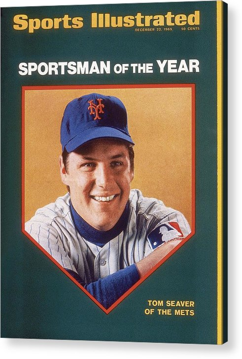 Tom Seaver Acrylic Print featuring the photograph New York Mets Tom Seaver Sports Illustrated Cover by Sports Illustrated