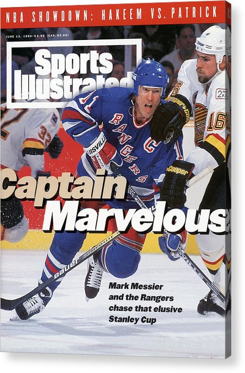 National Hockey League Acrylic Print featuring the photograph New York Rangers Mark Messier, 1994 Nhl Stanley Cup Finals Sports Illustrated Cover by Sports Illustrated