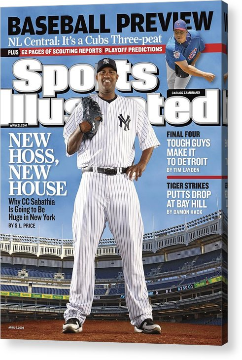 Magazine Cover Acrylic Print featuring the photograph New York Yankees Cc Sabathia Sports Illustrated Cover by Sports Illustrated