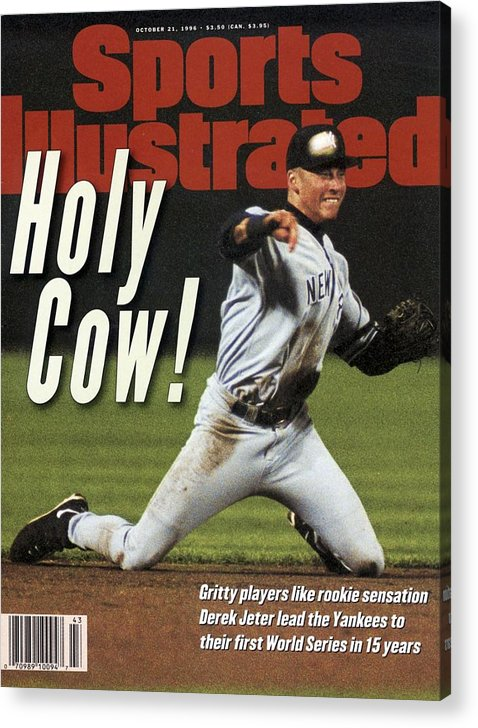 Magazine Cover Acrylic Print featuring the photograph New York Yankees Derek Jeter, 1996 Al Championship Series Sports Illustrated Cover by Sports Illustrated