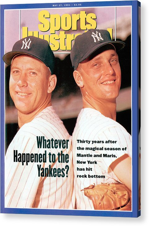 Magazine Cover Acrylic Print featuring the photograph New York Yankees Mickey Mantle And Roger Maris Sports Illustrated Cover by Sports Illustrated