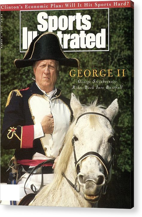 Horse Acrylic Print featuring the photograph New York Yankees Owner George Steinbrenner Sports Illustrated Cover by Sports Illustrated