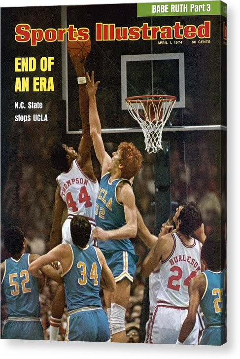 David Thompson Acrylic Print featuring the photograph North Carolina State David Thompson, 1974 Ncaa Semifinals Sports Illustrated Cover by Sports Illustrated