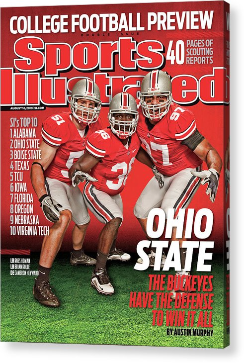 Season Acrylic Print featuring the photograph Ohio State University, 2010 College Football Preview Issue Sports Illustrated Cover by Sports Illustrated