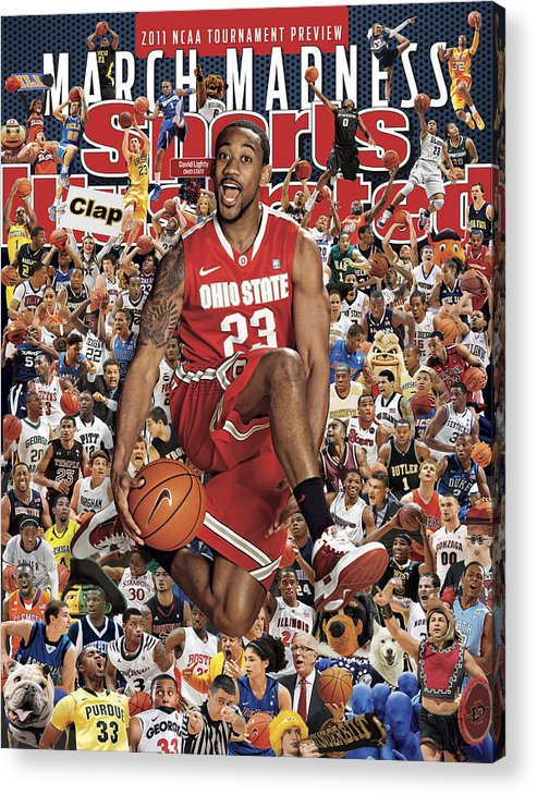 Sports Court Acrylic Print featuring the photograph Ohio State University David Lighty, 2011 March Madness Sports Illustrated Cover by Sports Illustrated