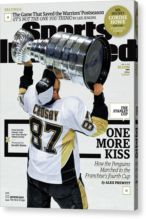 Magazine Cover Acrylic Print featuring the photograph One More Kiss How The Penguins Marched To The Franchises Sports Illustrated Cover by Sports Illustrated