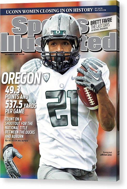 Magazine Cover Acrylic Print featuring the photograph Oregon State University Vs University Of Oregon Sports Illustrated Cover by Sports Illustrated
