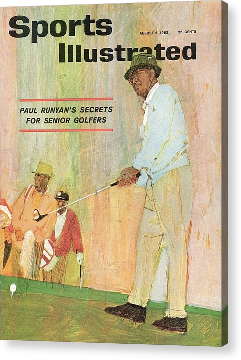 Magazine Cover Acrylic Print featuring the photograph Paul Runyans Secrets For Senior Golfers Sports Illustrated Cover by Sports Illustrated