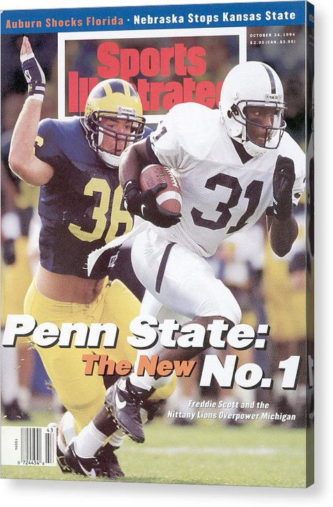 Michigan Acrylic Print featuring the photograph Penn State University Freddie Scott Sports Illustrated Cover by Sports Illustrated