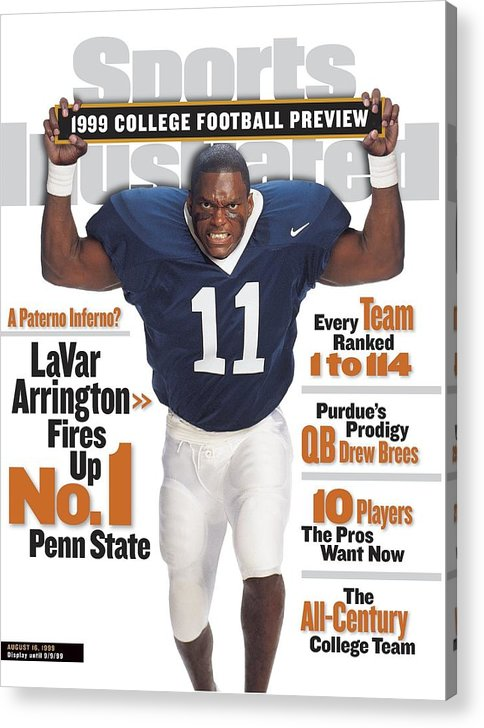 Season Acrylic Print featuring the photograph Penn State University Lavar Arrington, 1999 College Sports Illustrated Cover by Sports Illustrated