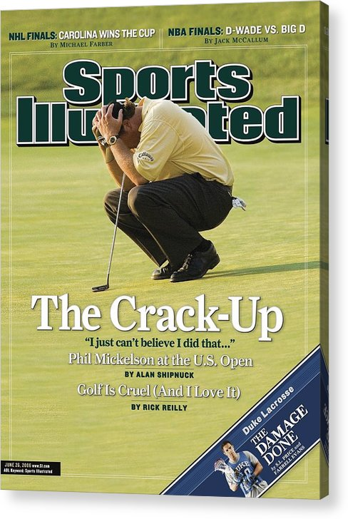 Magazine Cover Acrylic Print featuring the photograph Phil Mickelson, 2006 Us Open Sports Illustrated Cover by Sports Illustrated