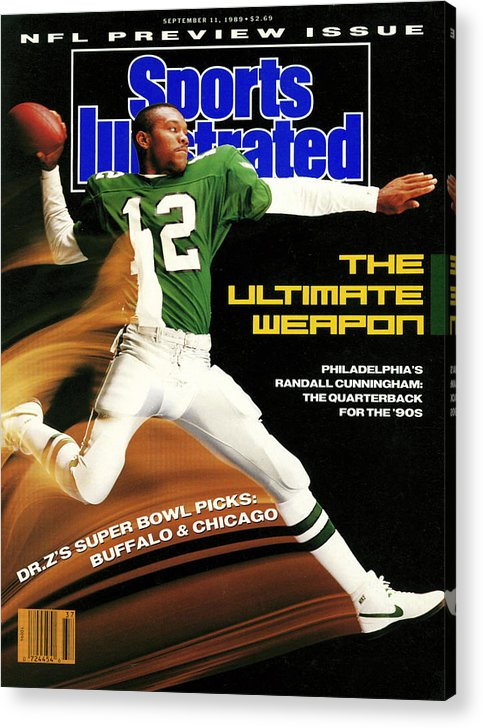 Magazine Cover Acrylic Print featuring the photograph Philadelphia Eagles Qb Randall Cunningham, 1989 Nfl Sports Illustrated Cover by Sports Illustrated