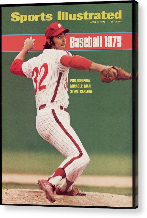 Magazine Cover Acrylic Print featuring the photograph Philadelphia Phillies Steve Carlton... Sports Illustrated Cover by Sports Illustrated