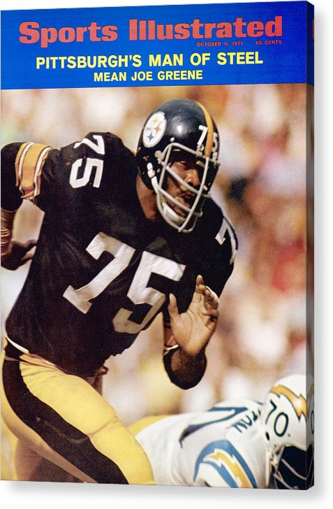 Sports Illustrated Acrylic Print featuring the photograph Pittsburgh Steelers Joe Greene... Sports Illustrated Cover by Sports Illustrated