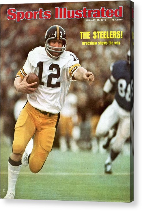 Sports Illustrated Acrylic Print featuring the photograph Pittsburgh Steelers Qb Terry Bradshaw, Super Bowl Ix Sports Illustrated Cover by Sports Illustrated