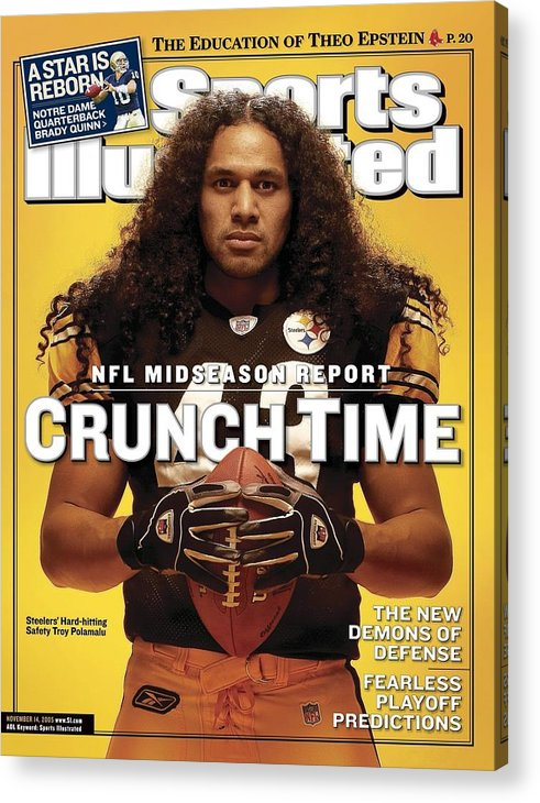 Sports Illustrated Acrylic Print featuring the photograph Pittsburgh Steelers Troy Polamalu Sports Illustrated Cover by Sports Illustrated