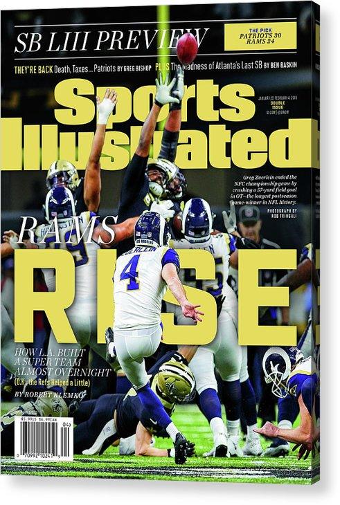 Magazine Cover Acrylic Print featuring the photograph Rams Rise How L.a. Built A Super Team Almost Overnight Sports Illustrated Cover by Sports Illustrated