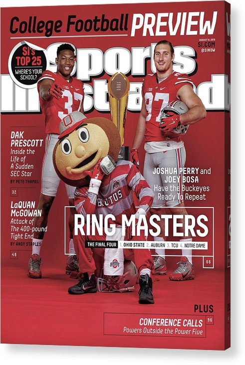 Magazine Cover Acrylic Print featuring the photograph Ring Masters 2015 College Football Preview Issue Sports Illustrated Cover by Sports Illustrated