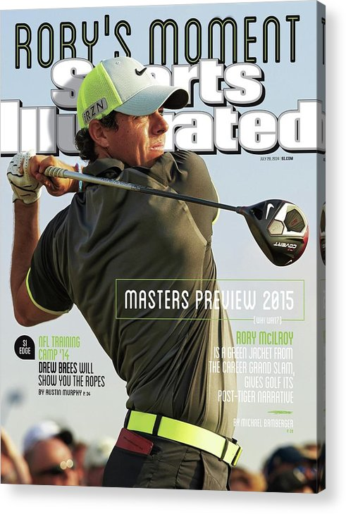 Magazine Cover Acrylic Print featuring the photograph Rorys Moment 2014 British Open Sports Illustrated Cover by Sports Illustrated