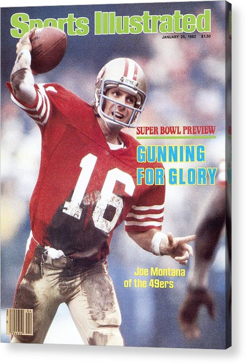 Candlestick Park Acrylic Print featuring the photograph San Francisco 49ers Qb Joe Montana... Sports Illustrated Cover by Sports Illustrated