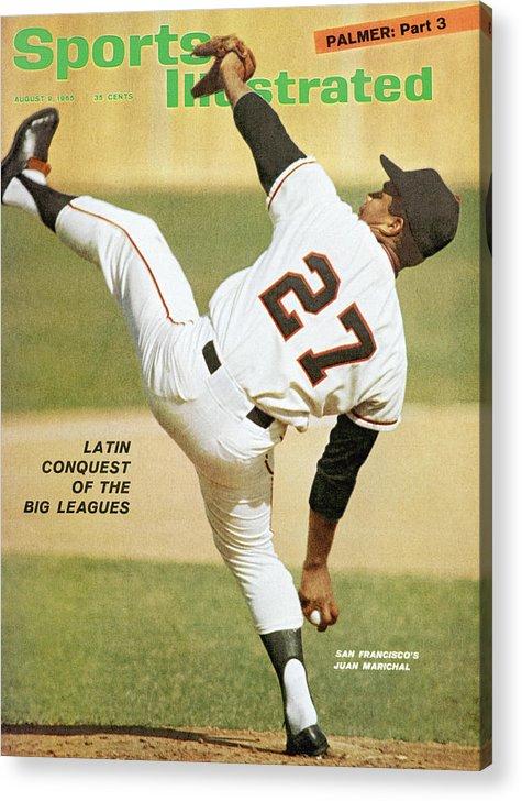 Magazine Cover Acrylic Print featuring the photograph San Francisco Giants Juan Marichal Sports Illustrated Cover by Sports Illustrated