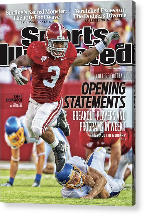 Sports Illustrated Acrylic Print featuring the photograph San Jose State V Alabama Sports Illustrated Cover by Sports Illustrated
