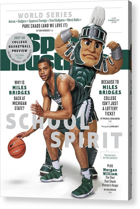 Michigan State University Acrylic Print featuring the photograph School Spirit 2017-18 College Basketball Preview Issue Sports Illustrated Cover by Sports Illustrated