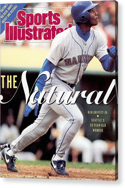 Magazine Cover Acrylic Print featuring the photograph Seattle Mariners Ken Griffey Jr... Sports Illustrated Cover by Sports Illustrated