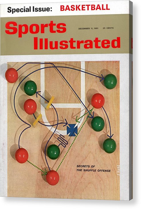 Magazine Cover Acrylic Print featuring the photograph Secrets Of The Shuffle Offense Sports Illustrated Cover by Sports Illustrated