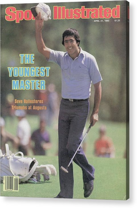 Magazine Cover Acrylic Print featuring the photograph Seve Ballesteros, 1980 Masters Sports Illustrated Cover by Sports Illustrated