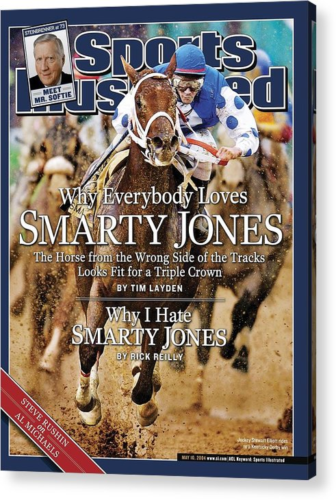 Horse Acrylic Print featuring the photograph Smarty Jones, 2004 Kentucky Derby Sports Illustrated Cover by Sports Illustrated