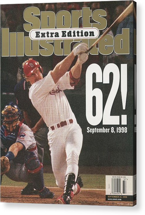 St. Louis Cardinals Acrylic Print featuring the photograph St. Louis Cardinals Mark Mcgwire, Baseball Sports Illustrated Cover by Sports Illustrated
