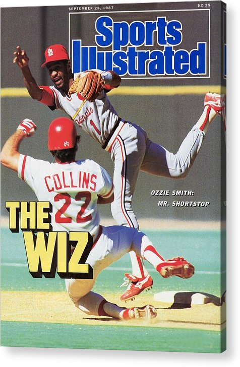 St. Louis Cardinals Acrylic Print featuring the photograph St Louis Cardinals Ozzie Smith... Sports Illustrated Cover by Sports Illustrated