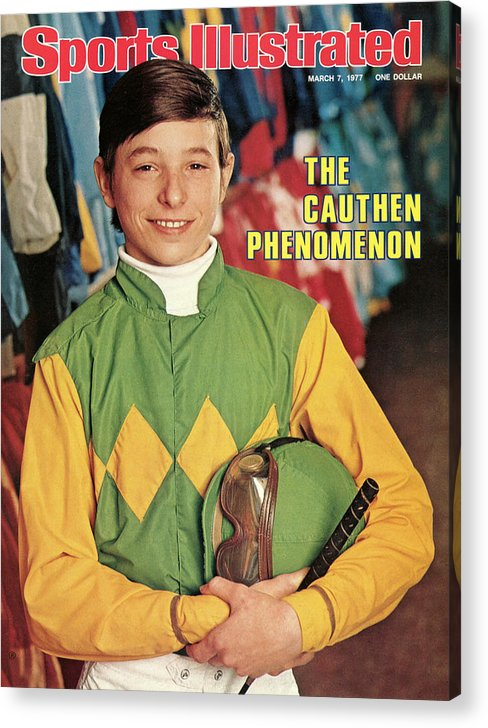 Horse Acrylic Print featuring the photograph Steve Cauthen, Horse Racing Jockey Sports Illustrated Cover by Sports Illustrated