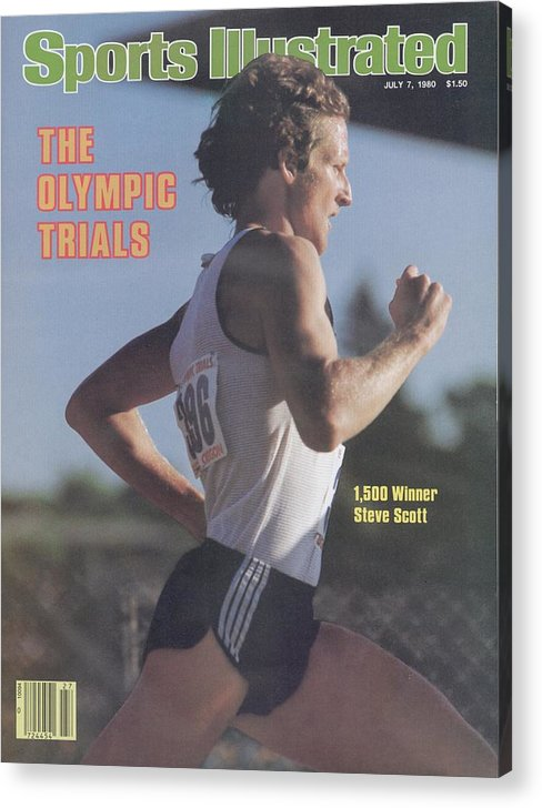 1980-1989 Acrylic Print featuring the photograph Steve Scott, 1980 Us Olympic Track & Field Trials Sports Illustrated Cover by Sports Illustrated